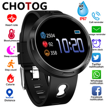 Smart Watch Men Color Touch Screen Pedometer Fitness Tracker Ip67 Waterproof Blood Pressure Heart Rate Monitor Smartwatch Women  - buy with discount