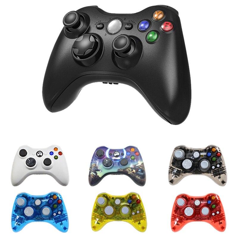 Sem fio/com fio bluetooth controlador para xbox 360 gamepad joystick para x box 360 jogos controle win7/8/10 jogo de computador joypad