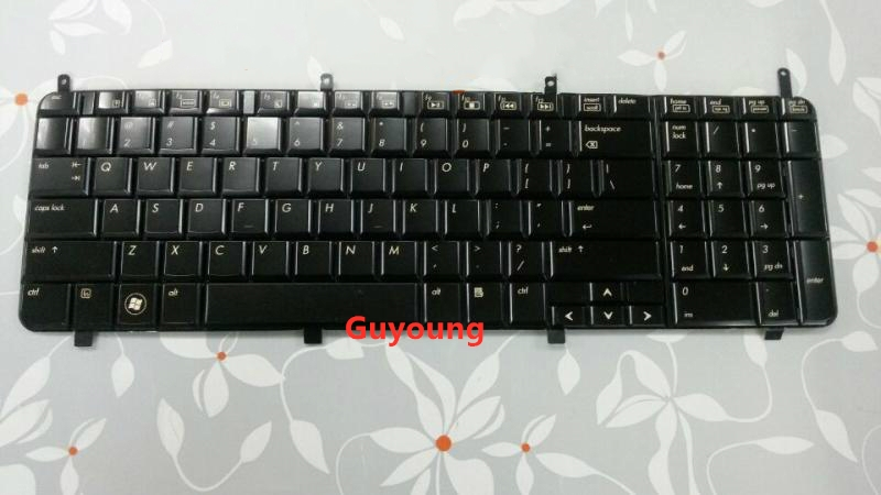 Black Laptop Keyboard For HP DV8 HDX X18 X187 Without Backlit Keyboard Replacement