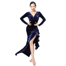 Women Belly Dance Costume Set Velvet Dress Long-sleeved V-neck Dancing Clothes Two-piece A Set Top Skirt Competition Suit 2017 square dance clothing women skirt suit short sleeved dance dress skirt with top women s clothes twinset