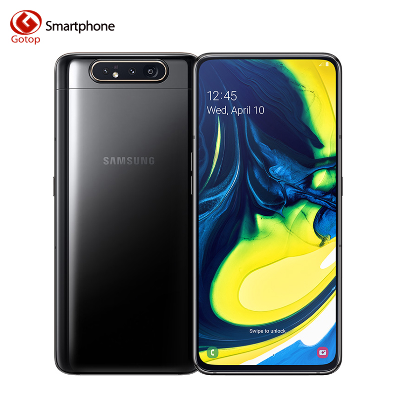 Samsung Galaxy A80 6.7 pouces Android 9.0 Octa Core Smartphone 8GB RAM 128GB ROM 48MP + 8MP + caméra rotative 3700mAh téléphone Mobile