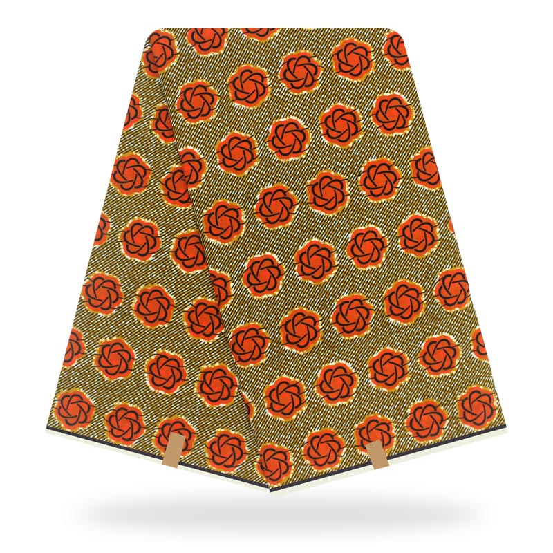 African Wax Print Fabric Cotton Material High Quality Ankara Fabric Sewing Veritable Dutch Real Dutch Wax 6yard For Dress