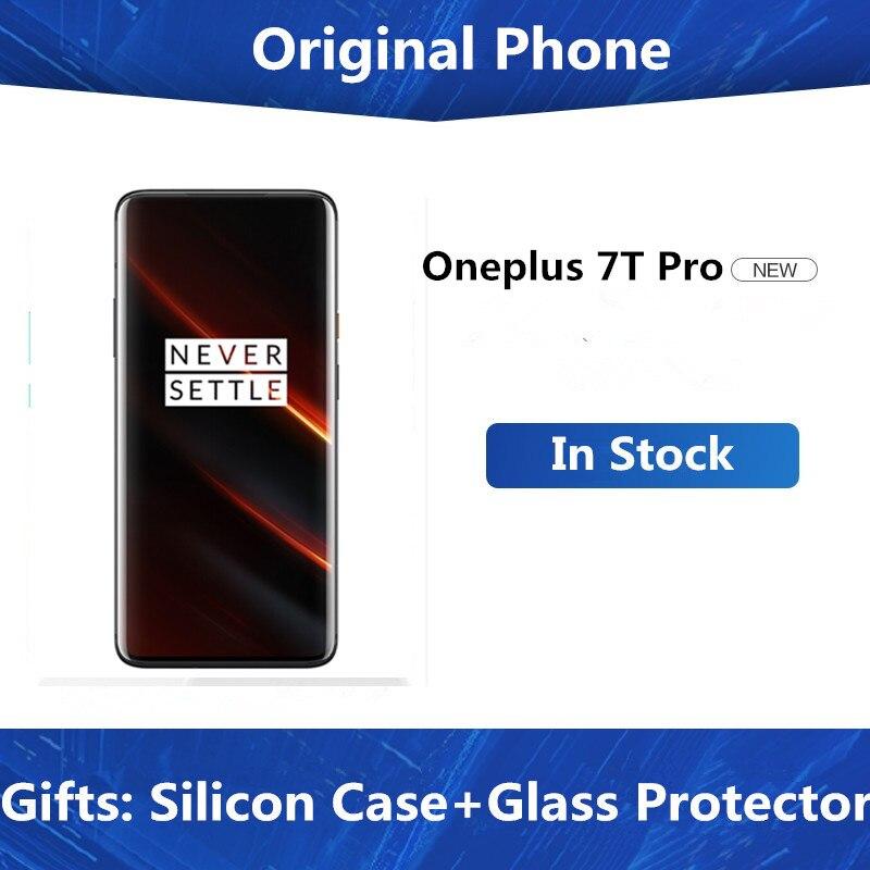 "DHL hızlı teslimat Oneplus 7T Pro cep telefonu Snapdragon 855 artı Android 10.0 6.67 ""3120x1440 90Hz 8GB RAM 256GB ROM 48.0MP NFC"