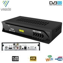 Vmade 2020 DVB S2 수신기 DVB 위성 HD 수신기 Full HD 1080p USB Wifi 무료 H.264 지원 유럽 TV 튜너