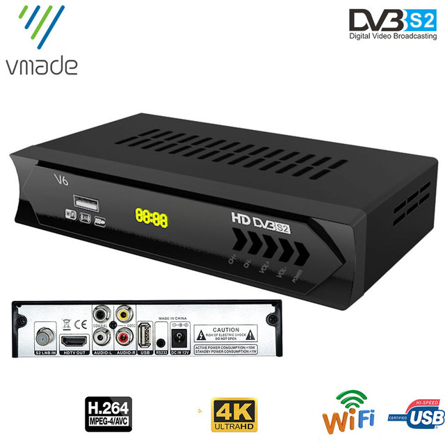 Vmade 2020 DVB S2 alıcısı DVB uydu HD reseptör Full HD 1080p USB Wifi ücretsiz H.264 desteği avrupa TV tuner