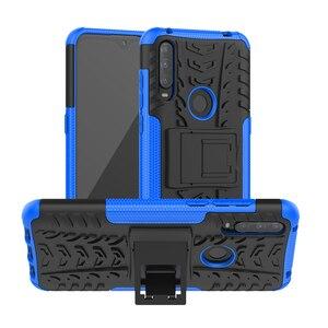For Alcatel 3L 2020 Case Anti-knock Bumper Heavy Duty Armor Stand Cover Alcatel 3L 2020 Silicone Phone Case For Alcatel 3L 2020