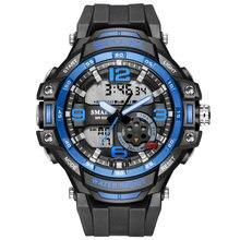 Часы наручные smael Мужские кварцевые Брендовые спортивные модные