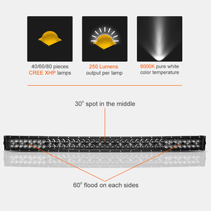 Image 2 - RACBOX 42 32 22 inch 5D Curved LED Light Bar 200W 300W 400W Black Pearl Lens Flood Spot Combo Beam For Offroad UAZ 4x4 12V 24V