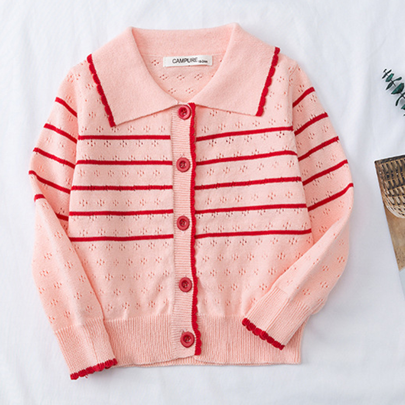 2020 New Autumn Lovely Cotton Sweater Cardigan Top Children's Clothing Baby Girls Knitted Cardigan Sweater Kids Spring Wear 1