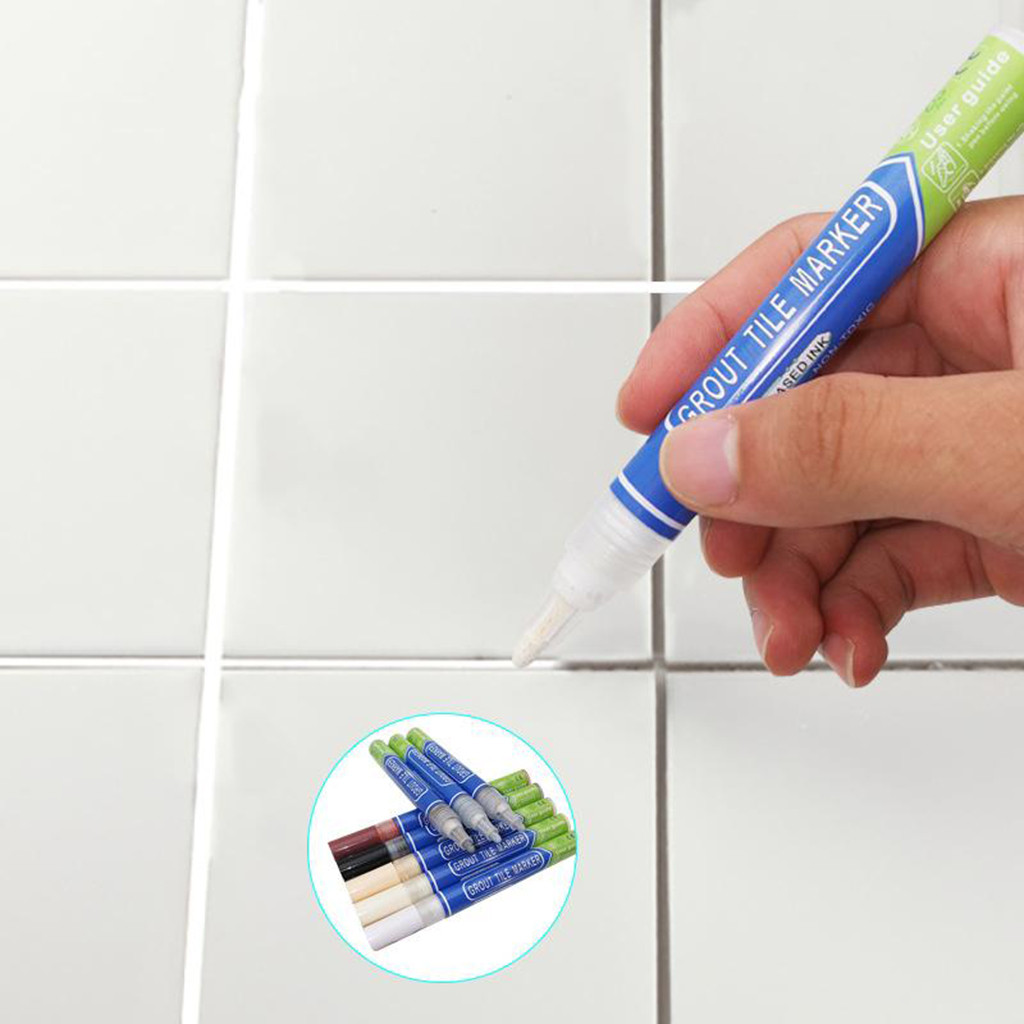 W-LOVE Tile Repair Pen Refill Wall Gap Grout Refresher Marker Odorless Non Toxic For Tiles Floor Kitchen Bathroom Cleaner