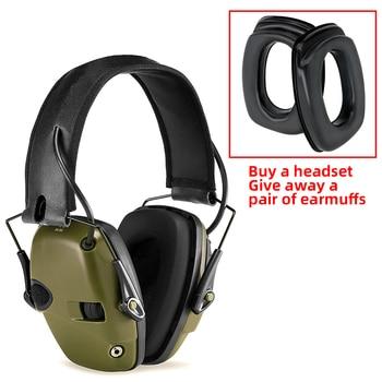 Oreillettes tactiques électroniques | anti-bruit, amplification de son, écouteurs de protection auditive, envoie une paire d'écouteurs oreillettes en éponge