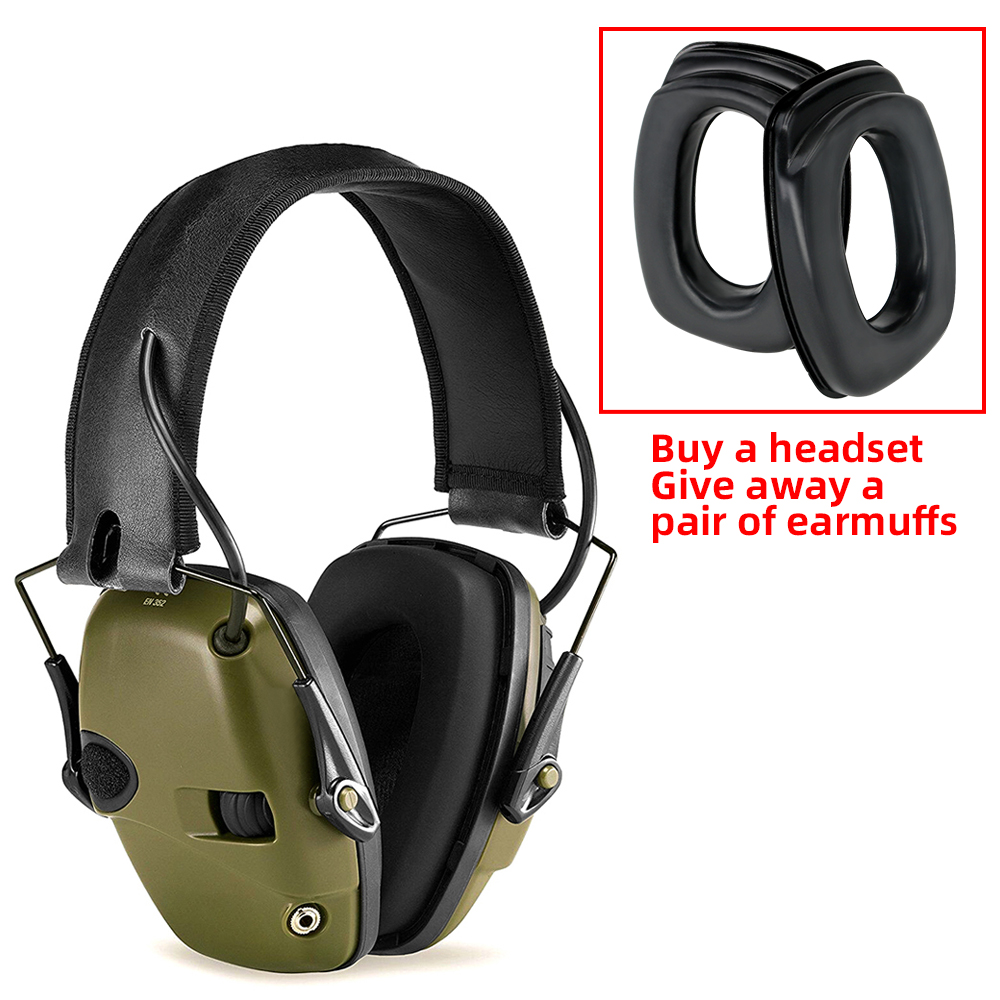 Tactical Electronic Shooting Earmuffs Anti-noise Sound Amplification Hearing Protection Headphones To Send A Pair Sponge Earmuff