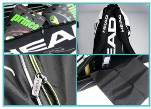 Image 5 - Sac de Tennis tête Djokovic sac de raquette de Tennis Badminton Padel sac de raquette de Tennis pour 9 raquette Tenis Raquete paquet Tenis Bolsa