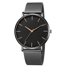 Men Round Dial Wristwatch Pin Buckle Alloy Business Casual Quartz Movement Watch PU Watch Band 01457 stylish quartz heart dial watch with flower and heart alloy chain watch band for women