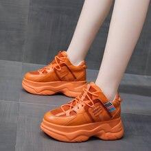 Новинка 2020 года; Модная женская обувь на толстой подошве;