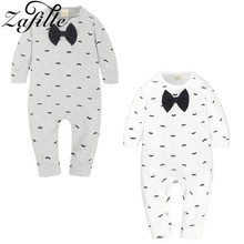 цена на ZAFILLE Long Sleeve Baby Romper Printed Baby Boy Clothes Cotton Newborn Infant Baby Girl Clothing Kids Clothes Baby Jumpsuits