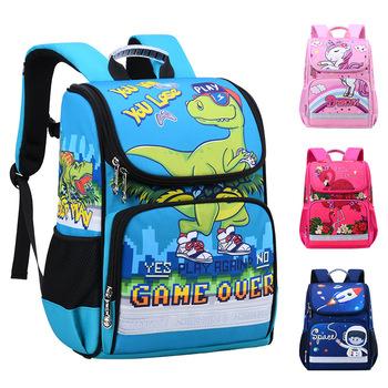 Dzieci szkolne torby 2020 nowy plecak dziecięcy chłopcy dziewczęta 3D zwierząt dinozaur plecak dzieci tornister przestrzeń szkolne torby Mochila Escolar tanie i dobre opinie HMQDG7E1N NYLON zipper Cartoon 30cm Torby szkolne Unisex 18cm Backpack 39cm 0 5kg