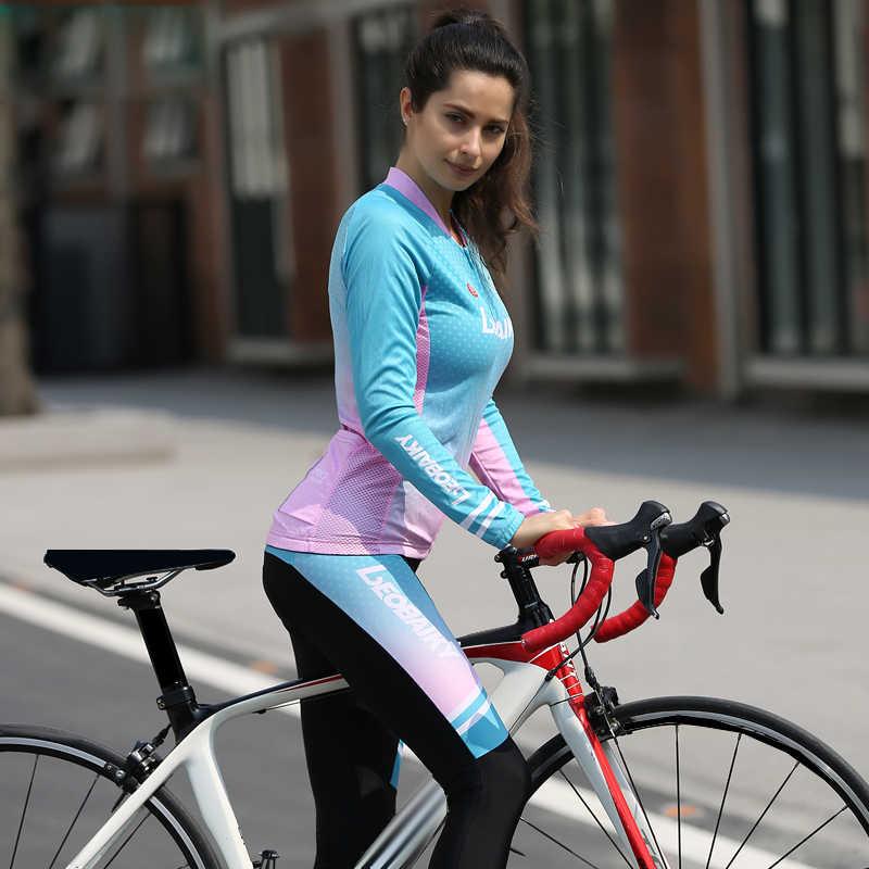 2019 PRO TIM Musim Dingin Bulu Termal Bersepeda Pakaian Wanita Lengan Panjang Cocok untuk Luar Ruangan Naik Sepeda Pakaian MTB Sepeda Jersey Set