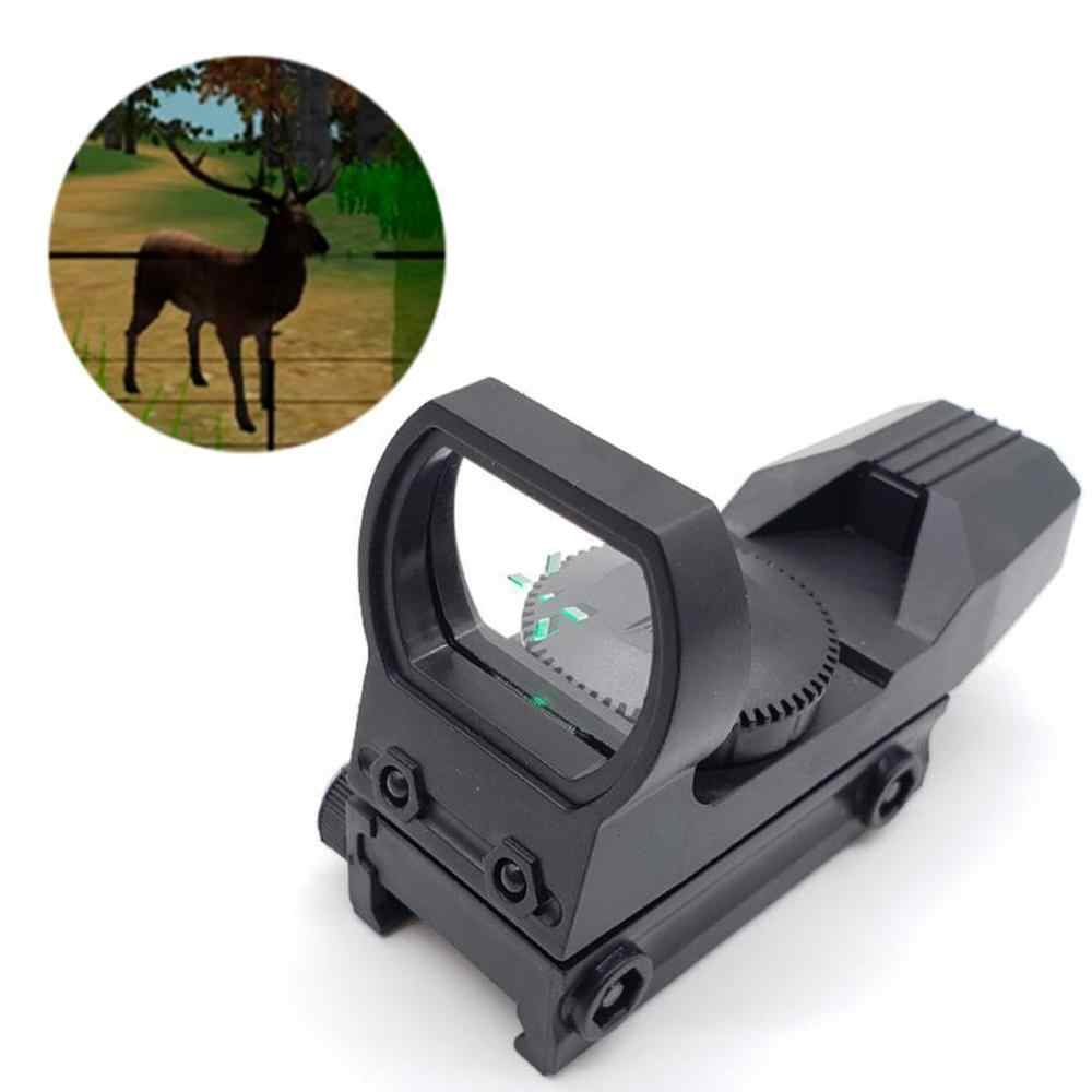 20Mm Rail Riflescope Berburu Optik Hologram Red Dot Sight 4 Reticle Taktis Lingkup Pistol Berburu Aksesoris