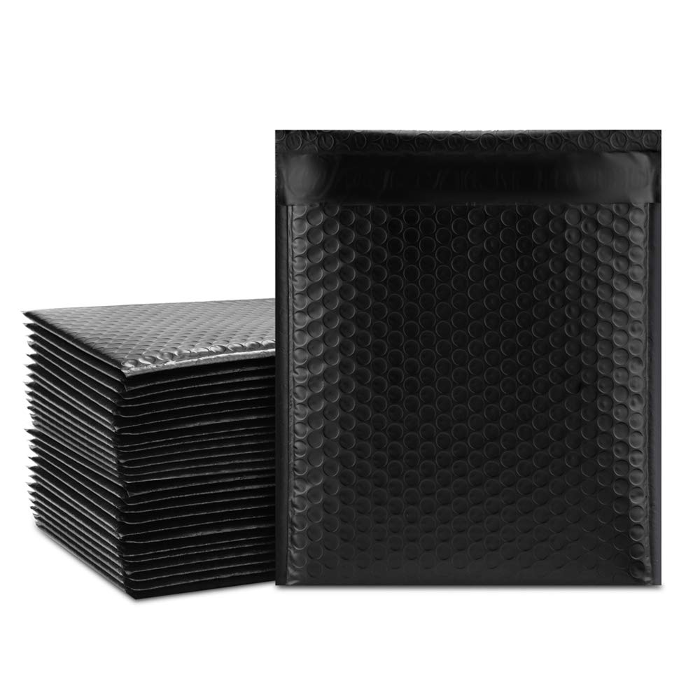 10pcs 8.5x11inch 235*280mm Black Poly Bubble Mailing Mailer Shipping Padded Envelope Bags Shockproof Courier Bubble Mailer