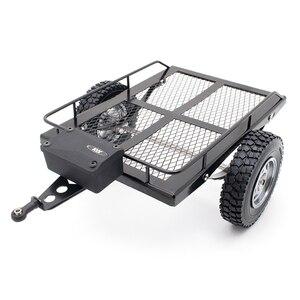KYX гоночный металлический Радиоуправляемый трейлер, рама-Хоппер, имитация для рок-гусеничного грузовика Trail, TRX4, осевой SCX10 RC4WD D90 CC01, гусеничн...