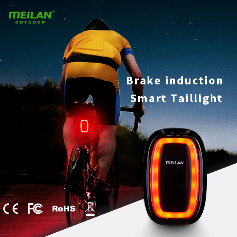 Meilan X6 Wireless Rear laser light Smart tail lamp USB Rechargeable Cycling Safety warnin led meilan S1 taillight
