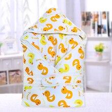Пеленки для новорожденного ребенка хлопок мягкое одеяло младенческой Спальный мешок дети мультфильм утолщенное одеяло Пеленальный мешок чехол для коляски коврик