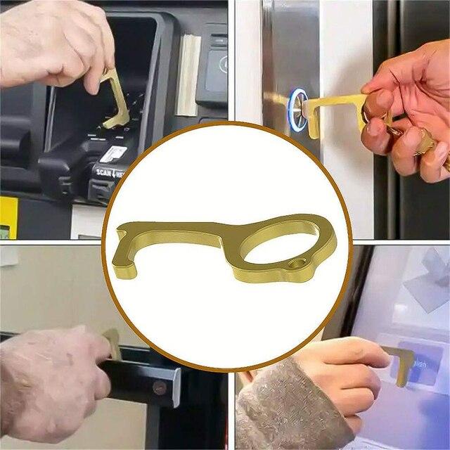 Les outils portatifs de presse de bouton dascenseur sans Contact hygiénique douvreur de porte sans Contact évitent de contacter des produits daccessoires