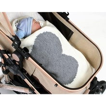Knitted Blanket Quilts Swaddle Wrap Bedding Baby-Stroller Warm Newborn Infants Crib 95x75cm