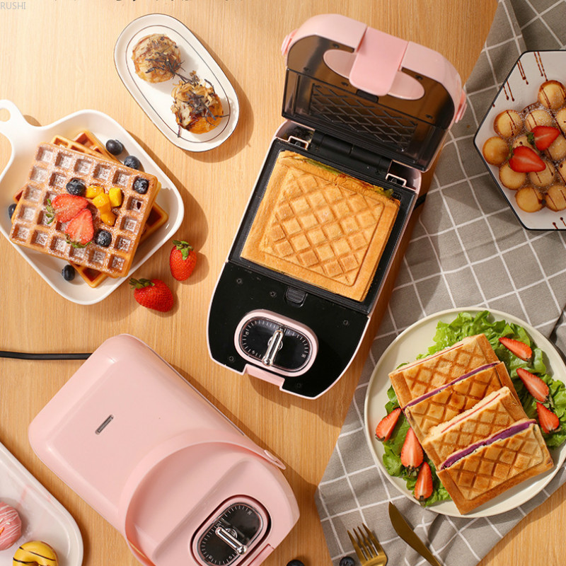 220V 650W Home Sandwich Machine Multifunctional Pot Donut Maker Waffle Maker Sandwich Maker Donut image
