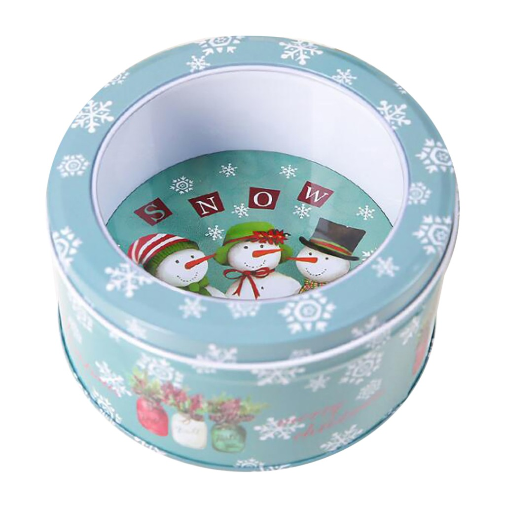 12pcs Square Candy Box Storage Plastic Box Christmas Candy Cans ChildrenS Gift