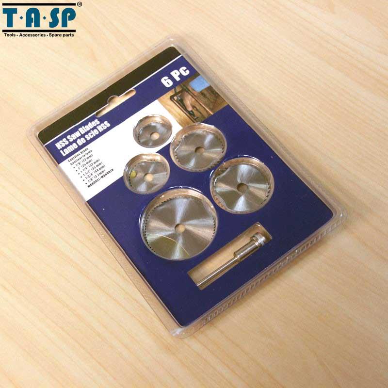 TASP 6db-os mini körfűrészlap-készlet HSS vágókorong - Fűrészlapok - Fénykép 2
