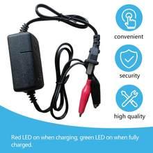 2019 noir Protection contre les courts-circuits 12 V 1300mA scellé plomb acide Rechargeable chargeur de batterie automatique par voiture camion moto