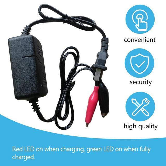 2019 Black Short Circuit Protection 12 V 1300mA Sealed Lead Acid Rechargeable Automatic Battery Charger Per Car Truck Motorcycle