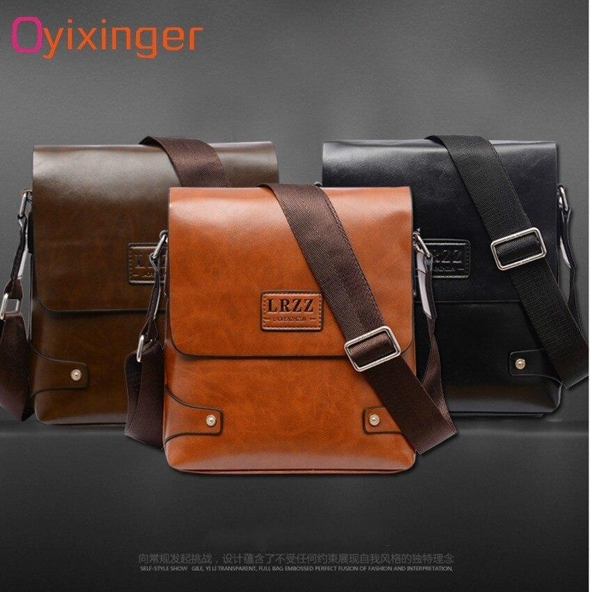 Image 4 - OYIXINGER Men Messenger Bags Satchel Bag Soft Leather Middle aged Man Single Shoulder Practical Work Bag For IPad Tablet PC BagsBriefcases   -
