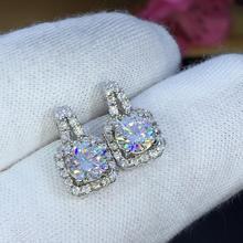 עגילי סט Moissanite לחתוך כולל 1.00ct רטרו עגילי תכשיטים 2020 אסתטי moissanite עגילים לנשים