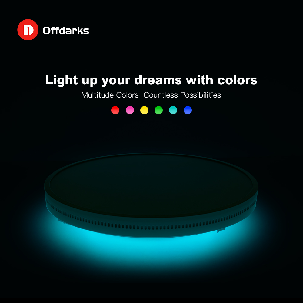 OFFDARKS Smart LED Ceiling Lamp 36W / 48W RGB Dimming APP Control Surface Mount Ceiling Light Bluetooth Speaker - 4