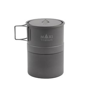 Image 5 - TOAKS MAXI Titanium Moka Stovetop cafetera Espresso olla ultraligera al aire libre conveniente mocha Pot