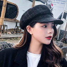 DYLAOPAN 2020Auutmn Winter Hats for Women Solid Plain Octagonal Newsboy Caps Men Ladies Casual Wool Hat Winter Beret Painter Cap
