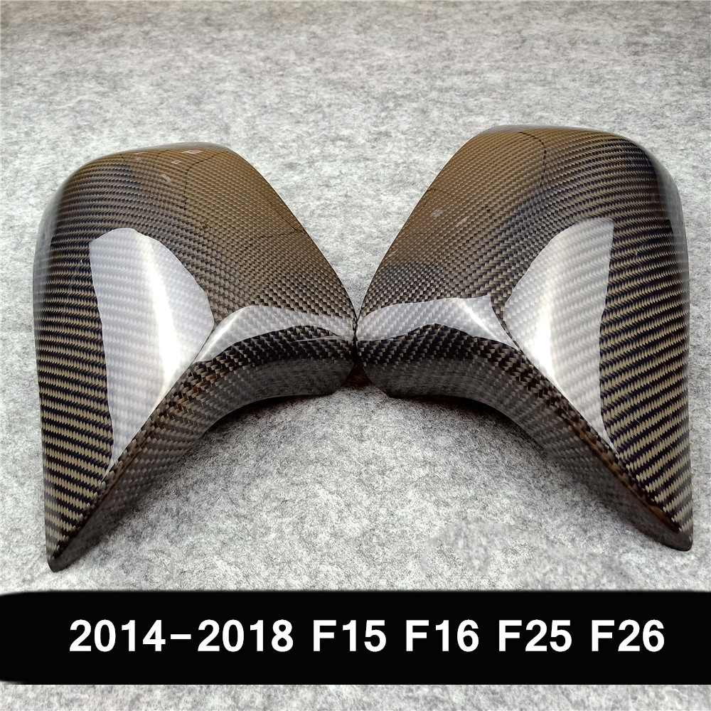 2014-2020 1 Pair Replacement <font><b>Carbon</b></font> Mirror Cover For <font><b>Bmw</b></font> X5 G05 X6 G06 <font><b>X3</b></font> <font><b>G01</b></font> X4 G02 ABS Mirror Cover X5 F15 X6 F16 <font><b>X3</b></font> F25 F26 image