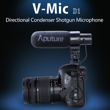 Aputure V-Mic D1 Microphone for Canon Nikon Sony DSLR Cameras For Youtube Video Interview Recording Condenser Shotgun Microphone