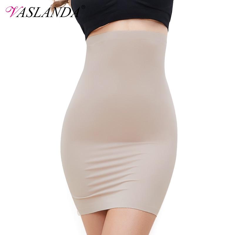 VASLANDA Women Half Slips Dress Shapewear High Waist Underskirt Tummy Control Slip Body Shaper Butt Lifter Slimming Underwear