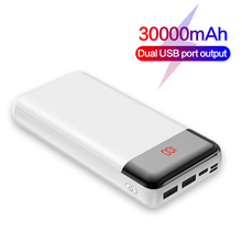 Portable 30000mAh Power bank For iPhone Fast charging Extern