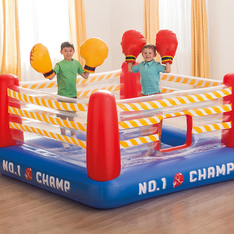 Hot Sell Family Children's Inflatable Indoor Trampoline Household Small Jumping Bed Game House Castle Fist Naughty Castle Toys