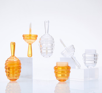 9ML Lipgloss Bottle Honey Lip Gloss Tube Clear Amber Plastic DIY Lip Gloss Containers Bottle Mini Empty Cosmetic Container Tool 5ml clear empty lip gloss tube orange cap lipgloss bottle lip glaze vials diy plastic beauty cosmetic packing container