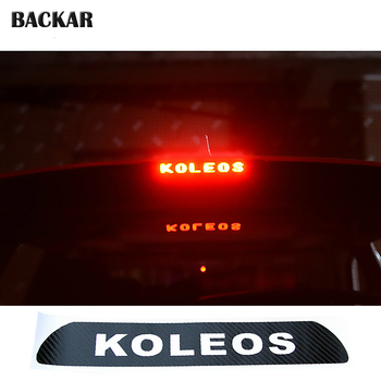 Car-styling 3D Carbon Fiber Emblems Stickers For Renault KOLEOS 2009-2016 Auto High Mounted Brake Stop Light Lamp Accessories image