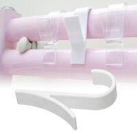 Y 모양 후크 수건 걸이 온수 수건 레일 라디에이터 관형 목욕 후크 홀더 스토리지 랙 목욕 후크 화이트 지우기 1/2pcs 3|후크 & 레일|   -
