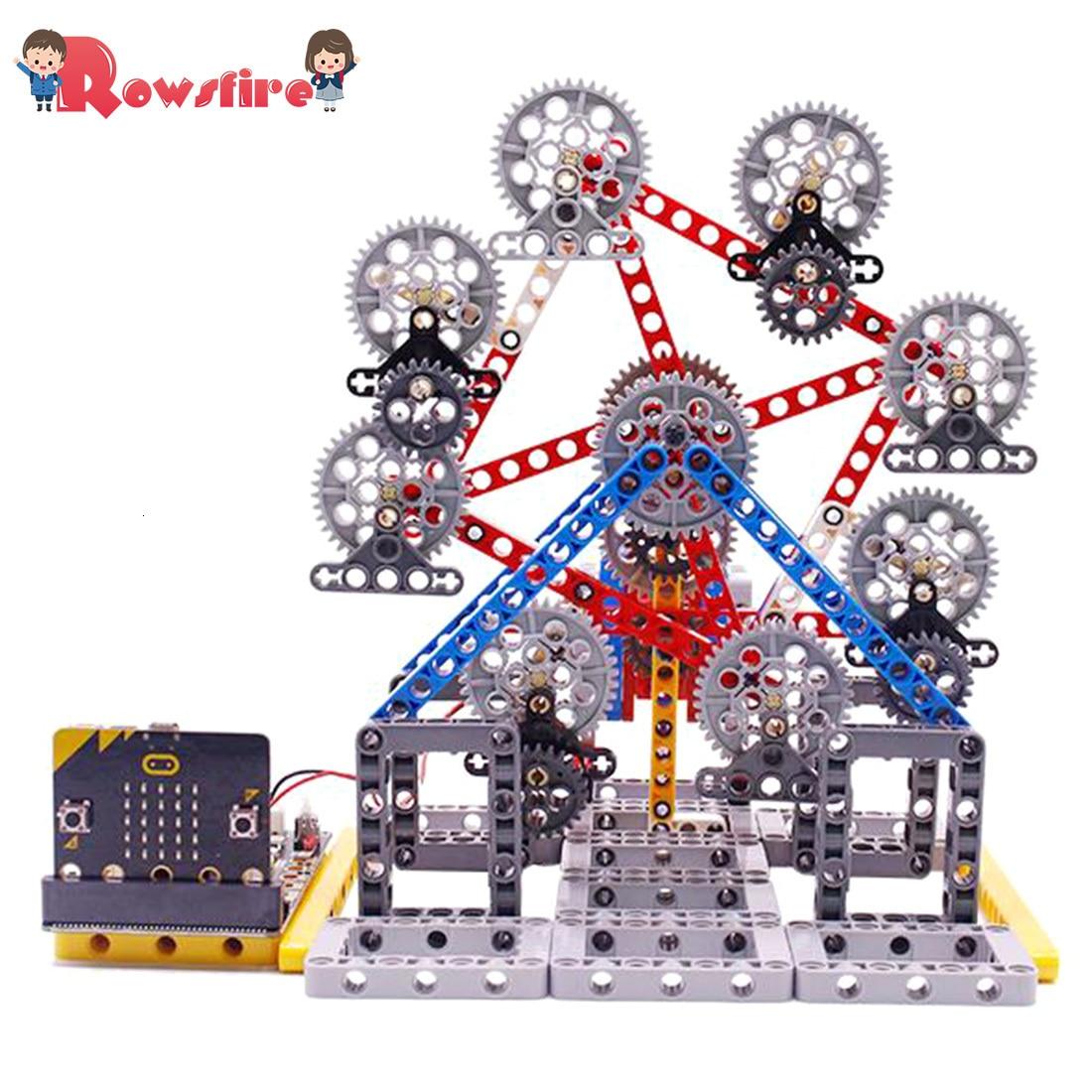Игрушки игры с микро: бит программируемый строительный блок DIY Смарт колесо обозрения комплект