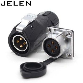 XHE20... IP67/2/3/4/5/6/7/8/9/10/12 pin impermeable conector M20 montaje en Panel conector de cable de alimentación macho y hembra 1