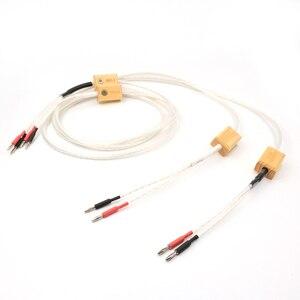 Hifi Nordost Odin 2 srebrny kabel głośnikowy z wtyczka bananowa lub złącze widełkowe Y, srebrna wtyczka bananowa